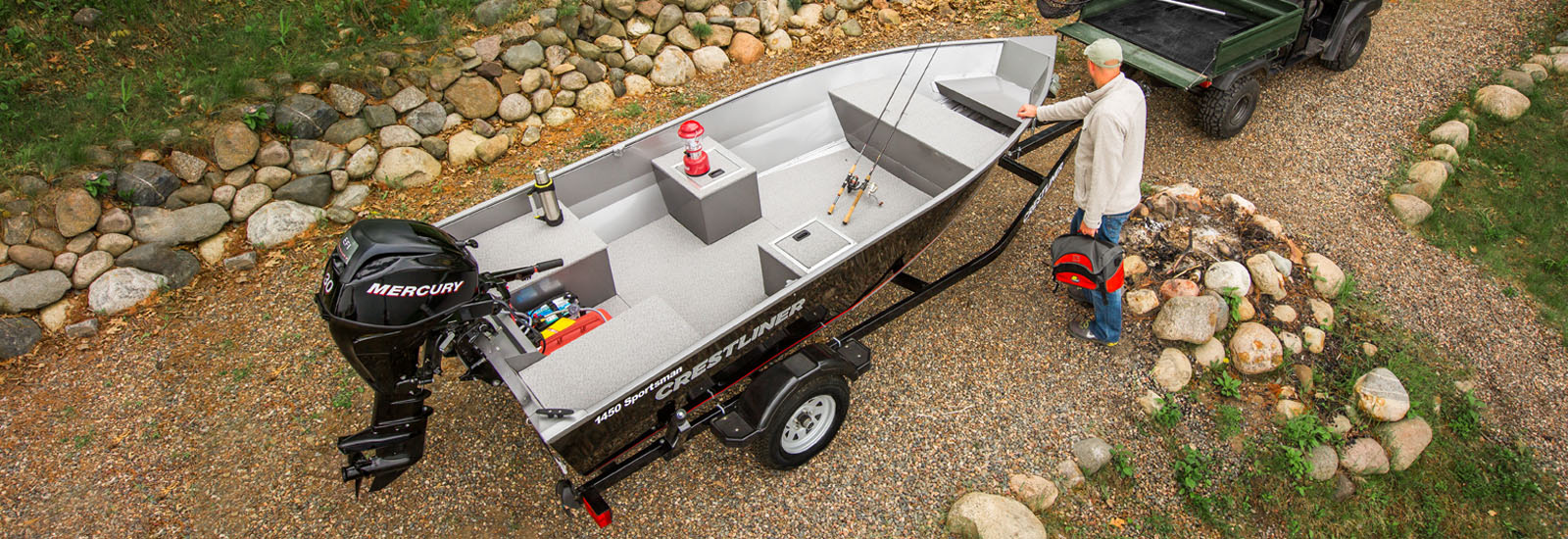 Sportsman Small lightweight and heavy duty aluminum fishing boats
