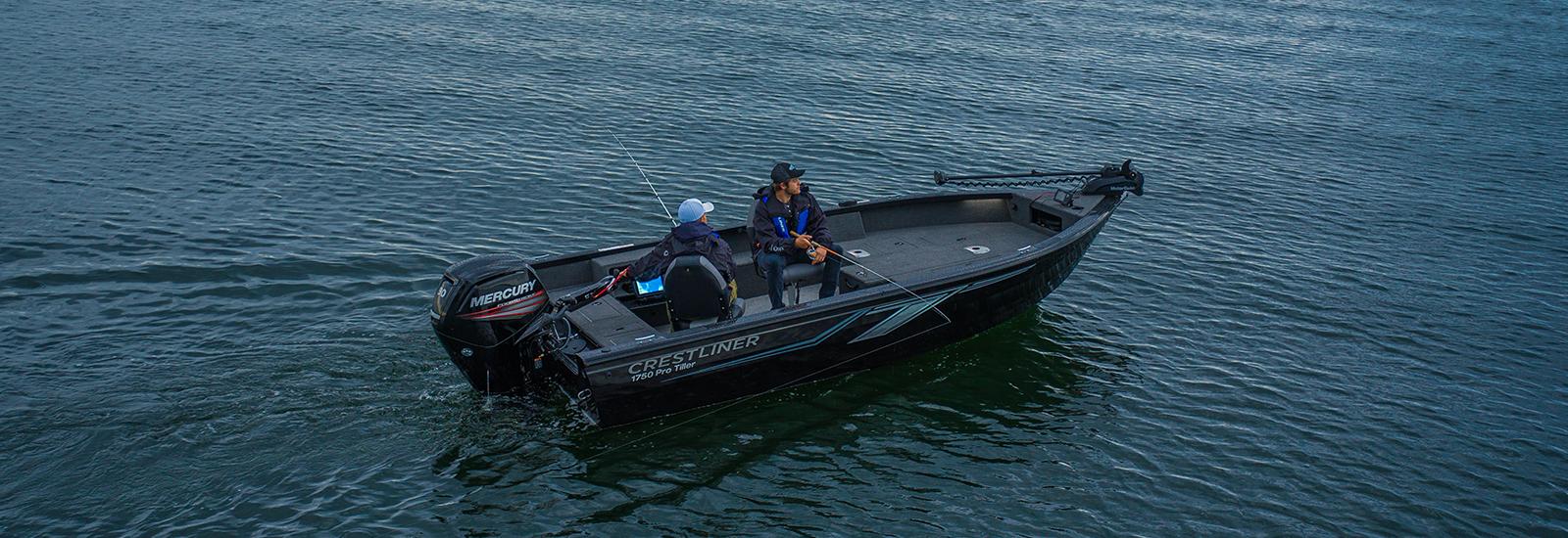 Crestliner Aluminum Tiller Boats | The Pro Tiller Series Boats