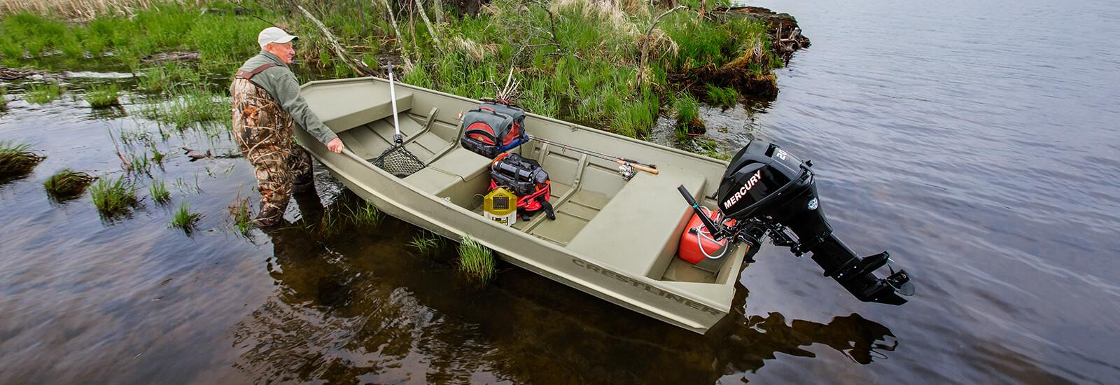 Fuel Bay Ridge >> Crestliner 1800 CR Jon   18 ft Welded Aluminum Jon Boats