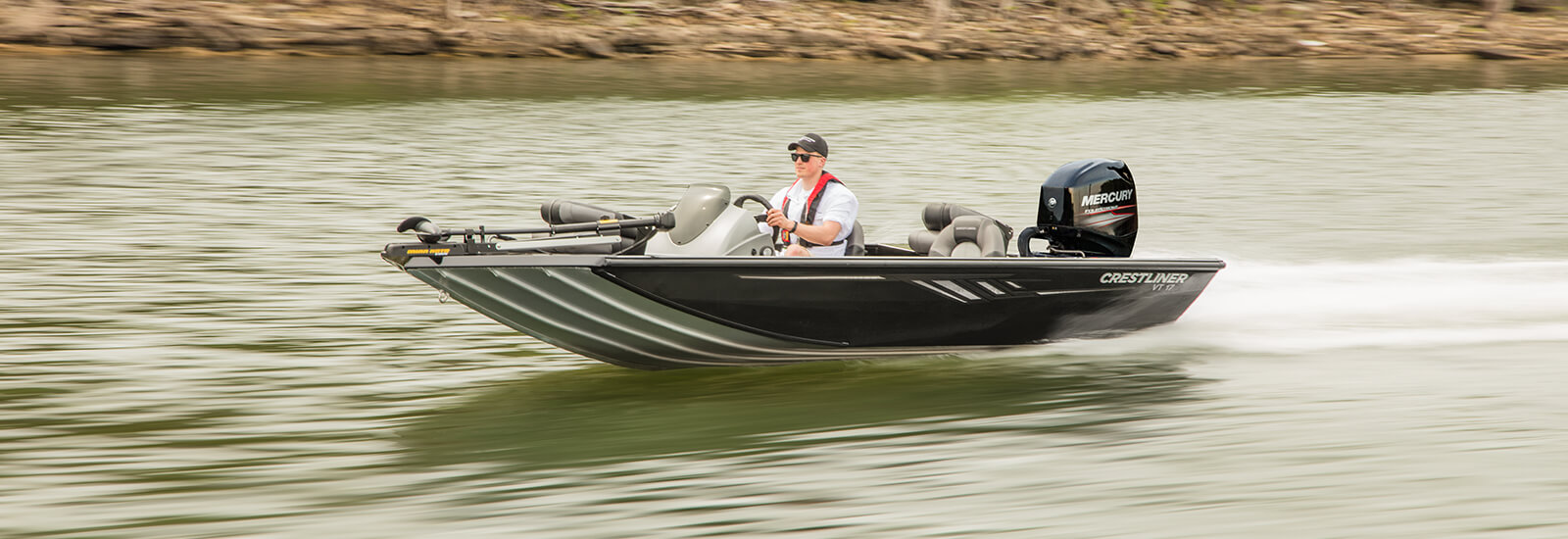 Crestliner Vt 17 Foot Flat Bottom Aluminum Bass Boats Trailer Light Wiring Harness 4 Way Wire Connector Boat Stroke Karavan