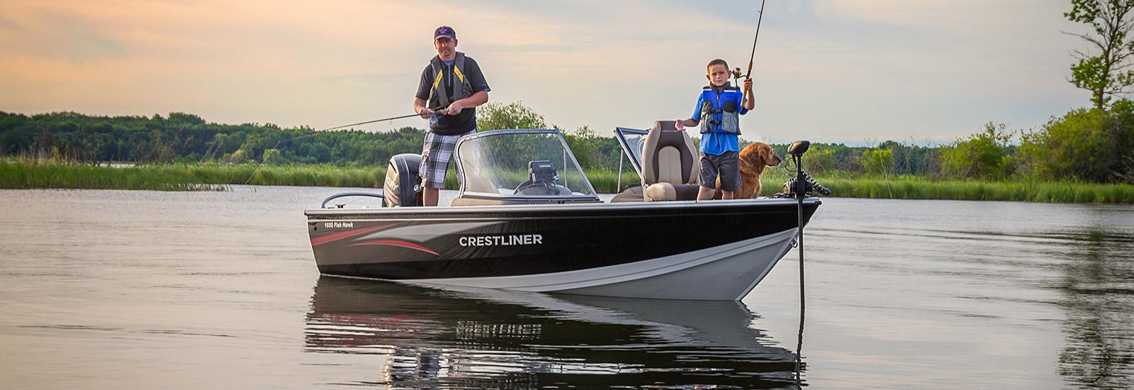 1650 fish hawk crestliner fish hawk is the best selling for Best aluminum fishing boat