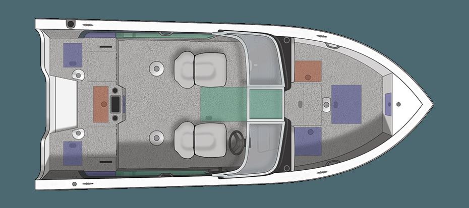 Crestliner 1750 Super Hawk 17 Foot Aluminum Ski And Fish