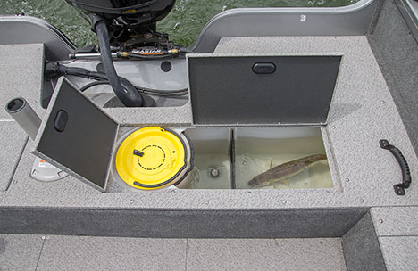 Stern Livewell with Bait Bucket