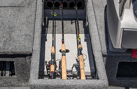 Center Locking Rod Storage