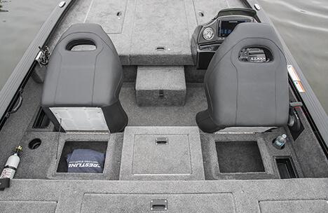 Helm and Passenger Under Seat Storage