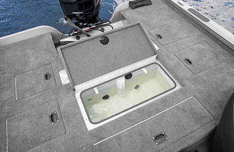 Stern Deck with 28 Gallon Livewell