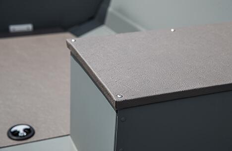 Marine-Grade Vinyl Wrapped Bench Seats