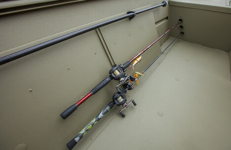 Quick Access Portside Rod Rack Accommodates Three Rods