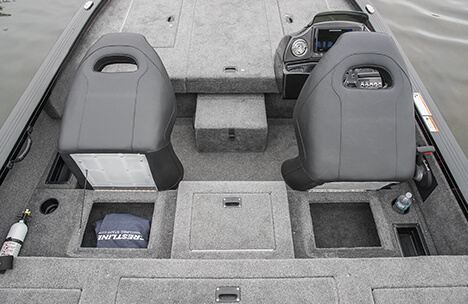 Helm and Passenger Under Seat Storage