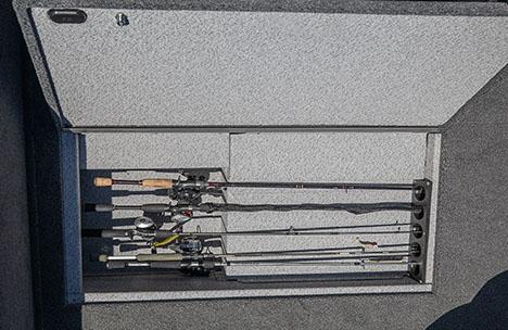 New! Center In-Floor Rod Locker