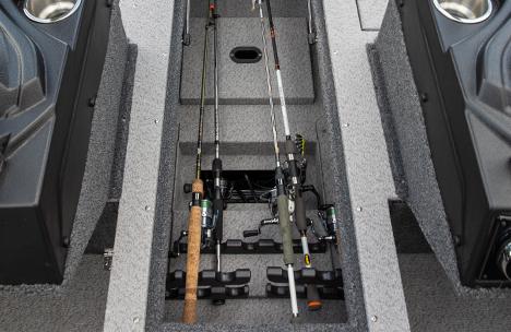 Illuminated Center Bow Rod Locker