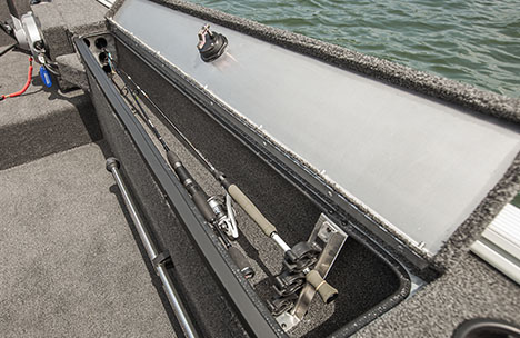 Starboard Locking Rod Storage