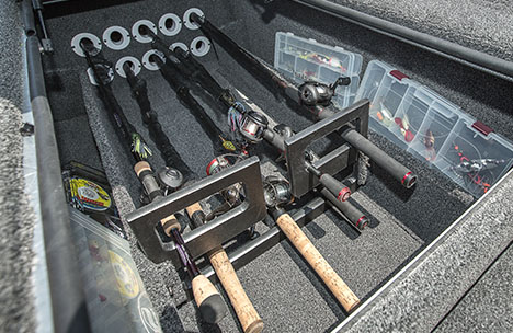 Bow Center Rod Storage