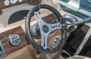 Aluminum Polished Steering Wheel with Comfort Grip