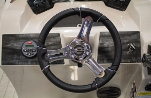 Premium, Aluminum Polished Steering Wheel with Comfort Grip