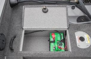 Center Locking Battery Storage