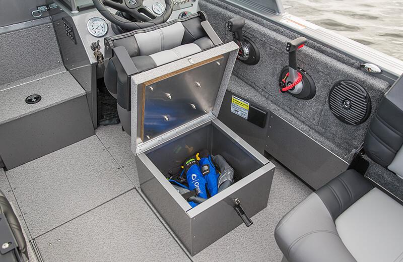 Helm & Passenger Seat Storage