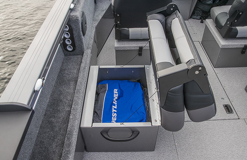 Side Bench Seat w/Storage Compartment