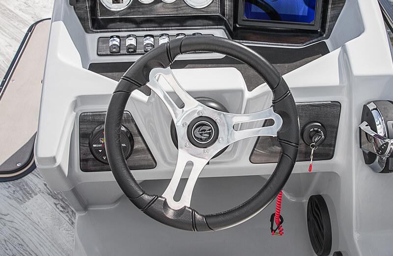 Premium, Aluminum Polished Steering Wheel with Comfort Grip