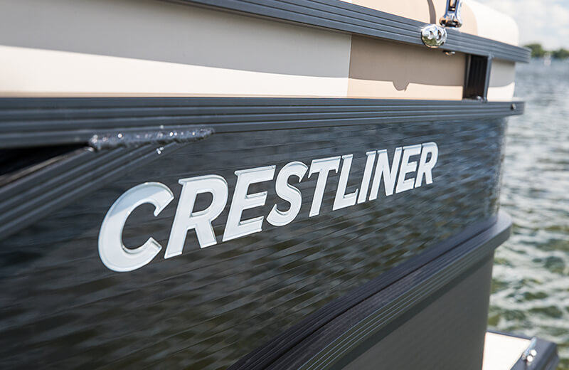 Black Anodized Rails & Domed Crestliner Logo