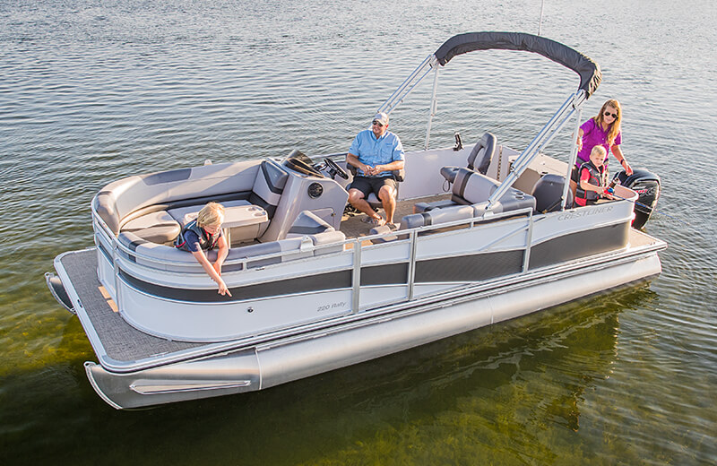 Crestliner 240 Rally Pontoon | 24 Foot Aluminum Pontoon Boat