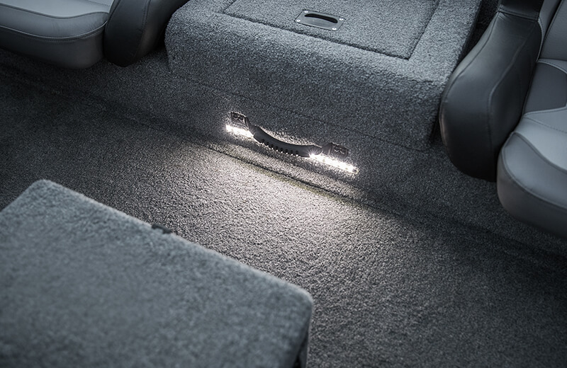 LED Lit Center Seat Step