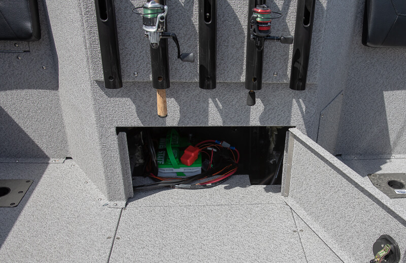 Stern Storage Battery Compartment