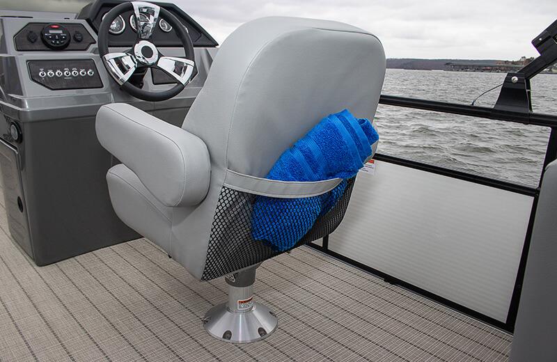 Helm Seat Mesh Pocket