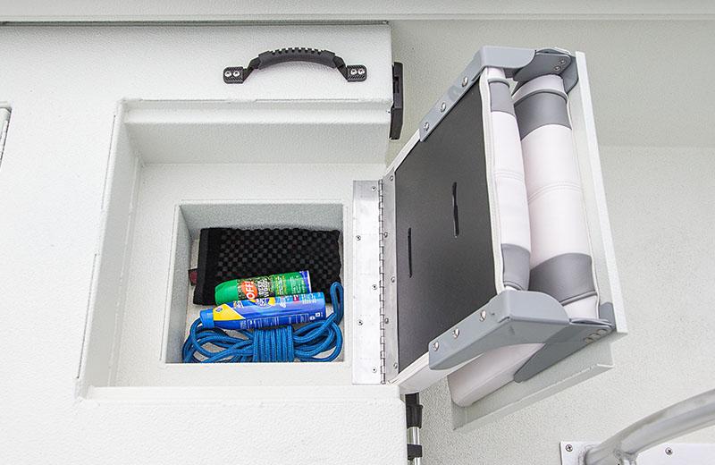 Aft Jump Seat Storage