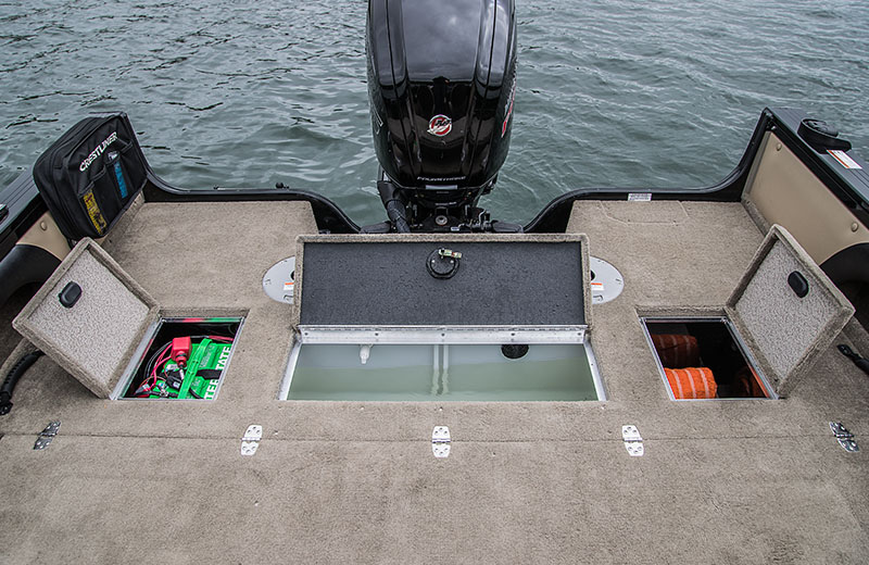 Stern Deck Storage and Livewell