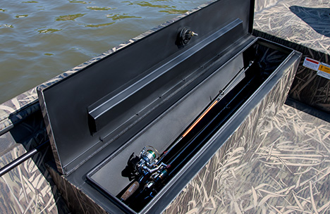 Gunbox with Rod Tubes and Cushion